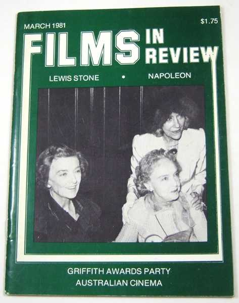 Image for Films in Review (March, 1981)