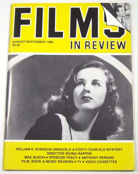 Image for Films in Review (August-September, 1986)