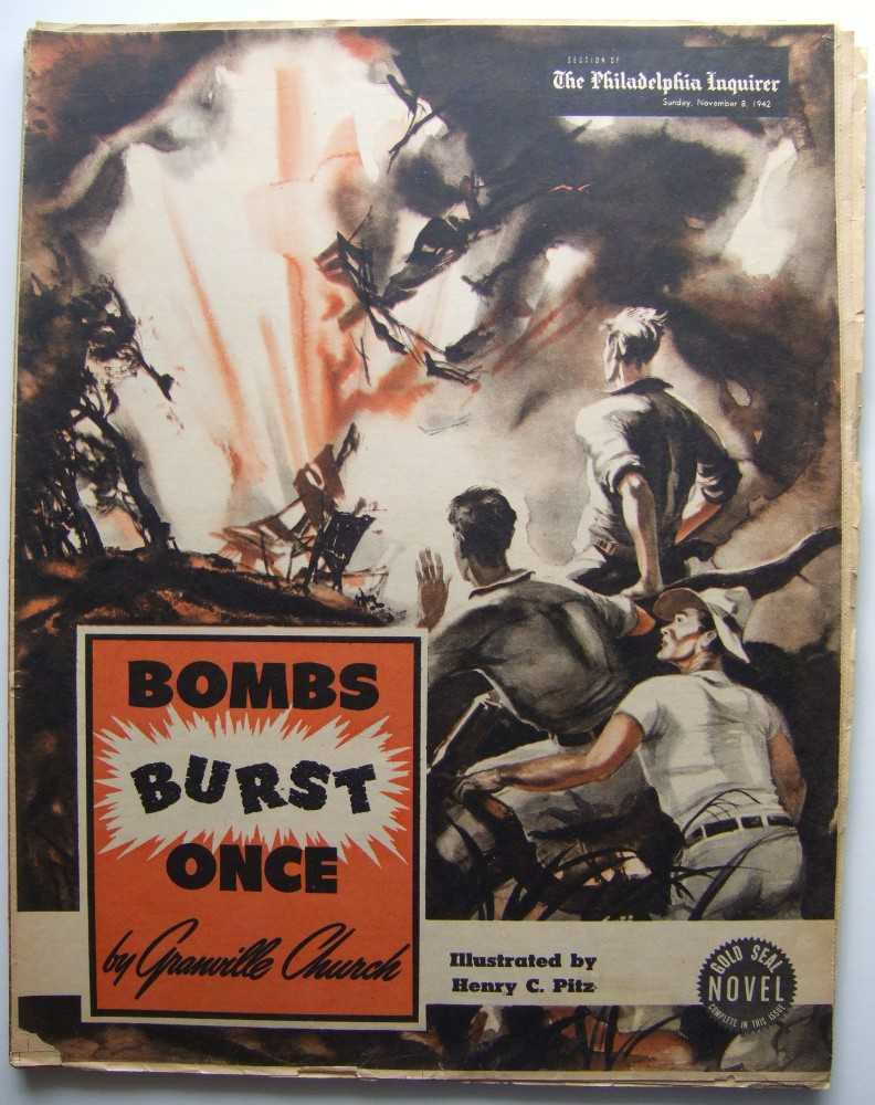 Bomb Burst Once (Gold Seal Novel, presented by the Philadelphia Inquirer, Sunday, November 8, 1942), Church, Granville