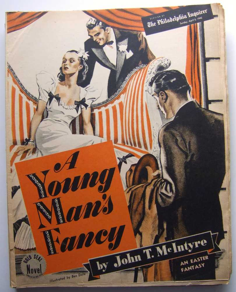 A Young Man's Fancy (Gold Seal Novel, presented by the Philadelphia Inquirer, Sunday, April 5, 1942), McIntyre, John T.