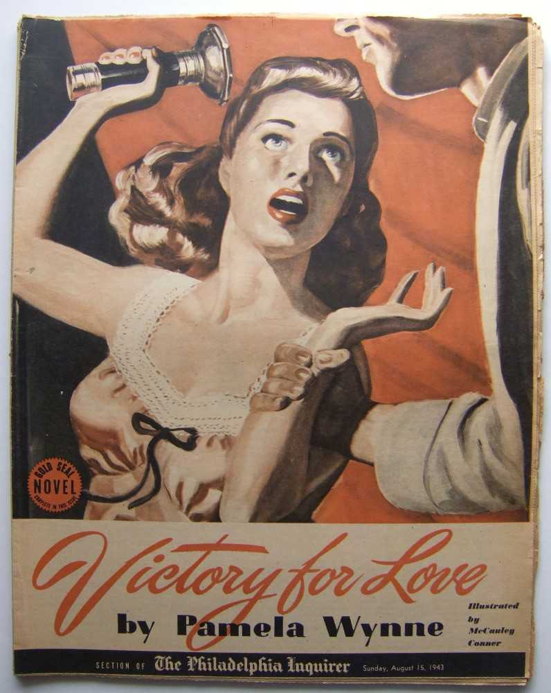 Victory for Love (Gold Seal Novel, presented by the Philadelphia Inquirer, Sunday, August 15, 1943), Wynne, Pamela