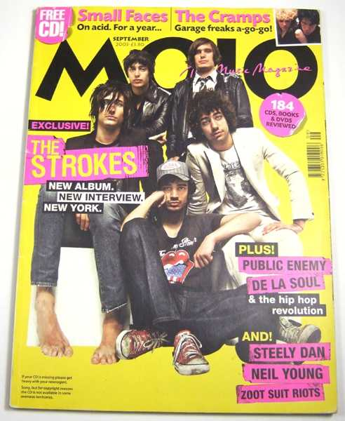 Mojo Music Magazine #118 (September, 2003), Phil Alexander (ed); The Strokes; Small Faces; The Cramps
