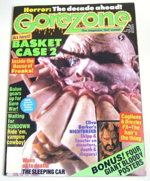 Gorezone #12 (March, 1990), Anthony Timpone; J. Peter Orr (eds); Chas. Balun; Tim Lucas; John Caglione; Doug Drexler