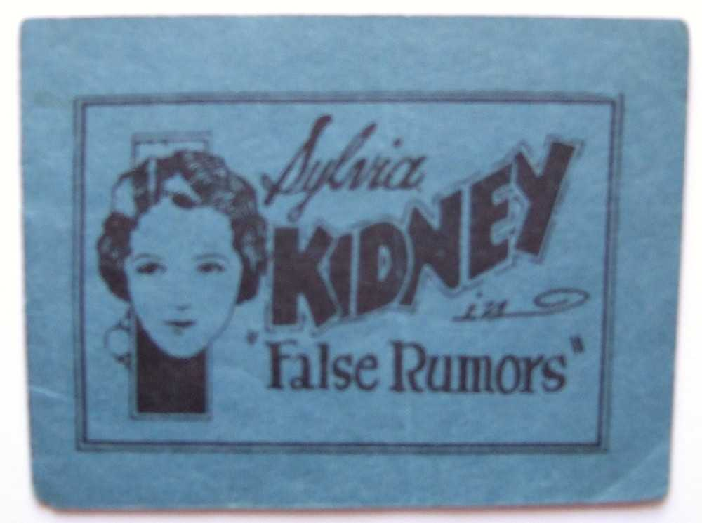 "Sylvia Kidney (Sylvia Sidney) in ""False Rumors"" (Tijuana Bible, 8-Pager), Anonymous"