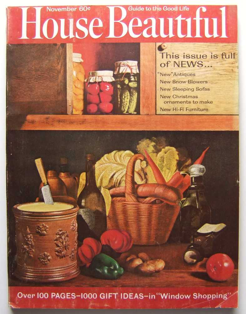 House Beautiful (November, 1963, Vol. 105, #11), Gordon (editor), Elizabeth