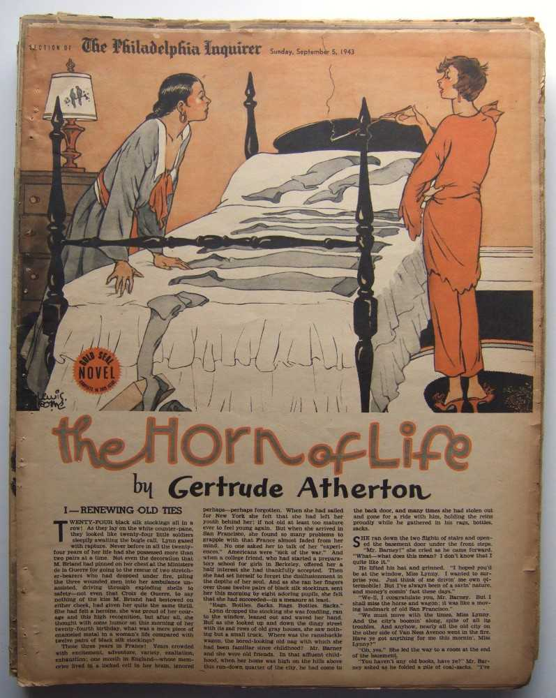 The Horn of Life (Gold Seal Novel, presented by the Philadelphia Inquirer, Sunday, September 5, 1943), Atherton, Gertrude