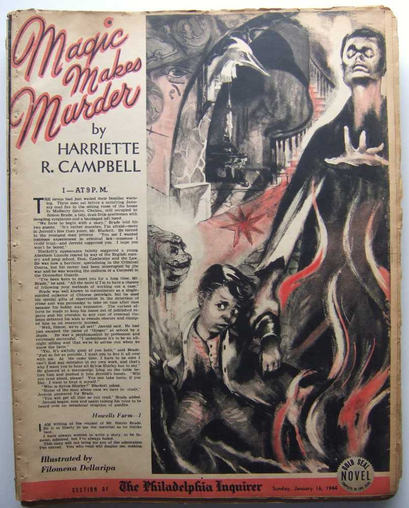 Magic Makes Murder (Gold Seal Novel, presented by the Philadelphia Inquirer, Sunday, January 16, 1944), Campbell, Harriette R.