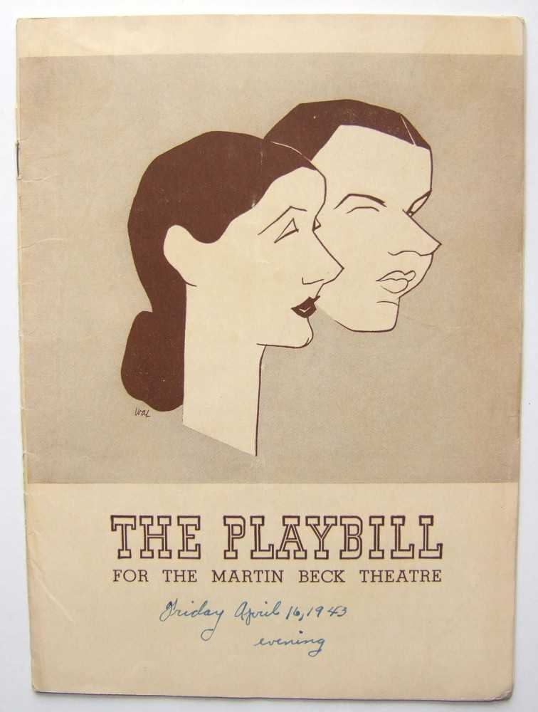 The Pirate: Playbill for the Martin Beck Theatre, 1943, Behrman, S. N.