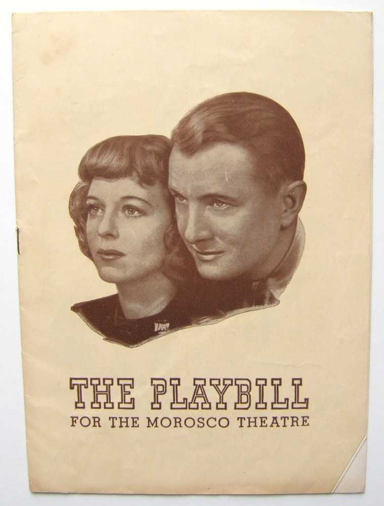The Voice of the Turtle: Playbill for the Morosco Theatre, 1944, Margaret Sullavan; Audrey Christie; John van Druten