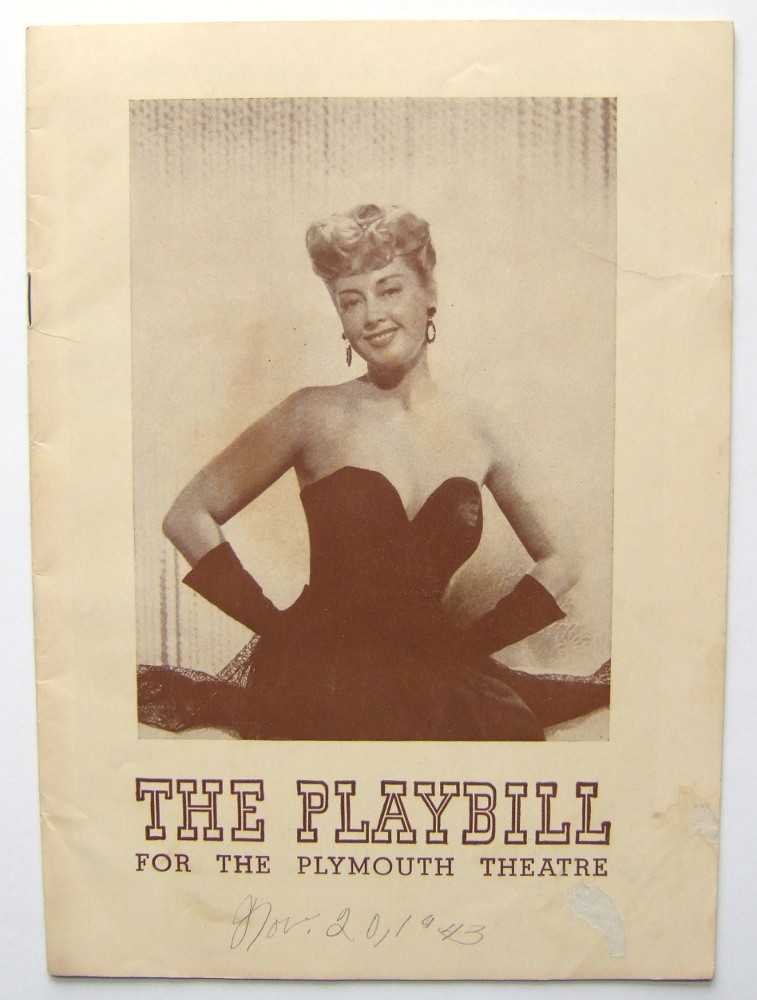 The Naked Genius: Playbill for the Plymouth Theatre, 1943, Gypsy Rose Lee; George S. Kaufman; Joan Blondell; Michael Todd