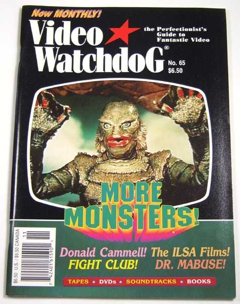 Video Watchdog #65 (November, 2000), Tim Lucas (editor); Ramsey Campbell; Kim Newman; John Charles