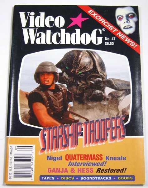 Video Watchdog #47 (September / October 1998), Tim Lucas (editor); Ramsey Campbell; Kim Newman; John Charles
