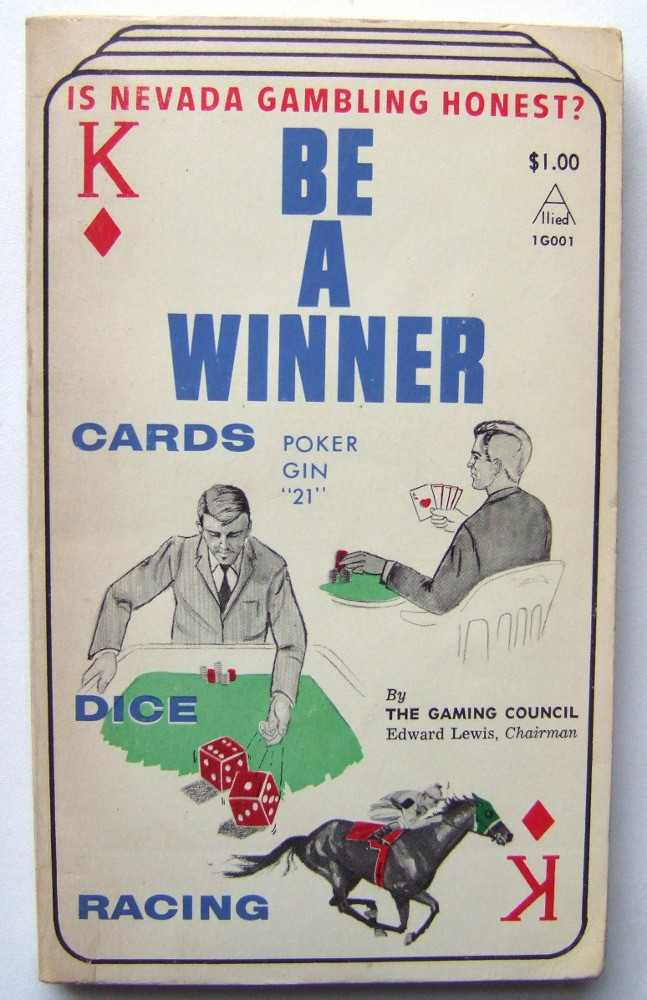 Be a Winner: Get the Edge in 21, Gin, Poker, Sports Betting, The Gaming Council; Edward Lewis (chairman)