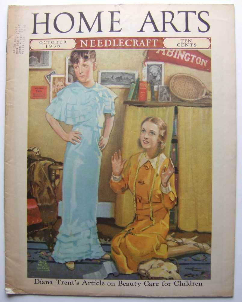 Home Arts - Needlecraft (October, 1936, Volume XXVIII, No. 2) [Drag, Cross-dressing cover], Editors