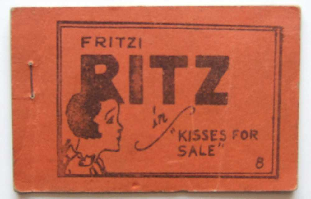 "Fritzi Ritz in ""Kisses For Sale"" (Tijuana Bible), unknown; based on character created by Larry Whittington + Ernie Bushmiller"