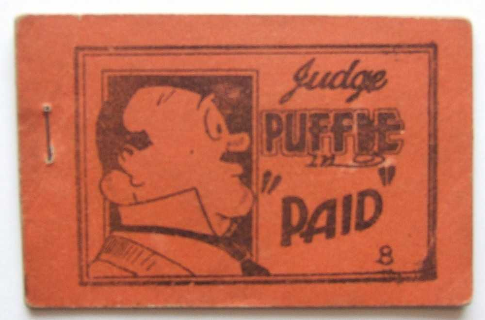 "Judge Puffle in ""Paid"" (Based on characters from the comic strip: ""Room and Board"") (Tijuana Bible), Anonymous; Based on characters created by Gene Ahern"
