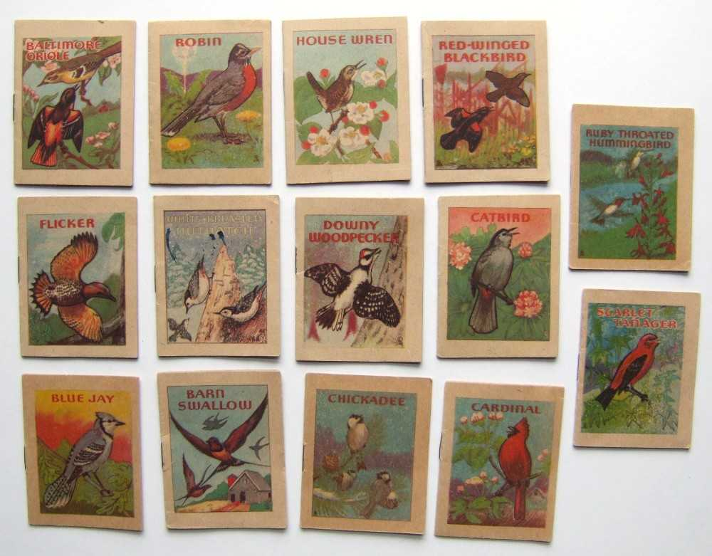 Miniature Bird-Watching Book Set: 14 titles (1941), Eggers, John H.