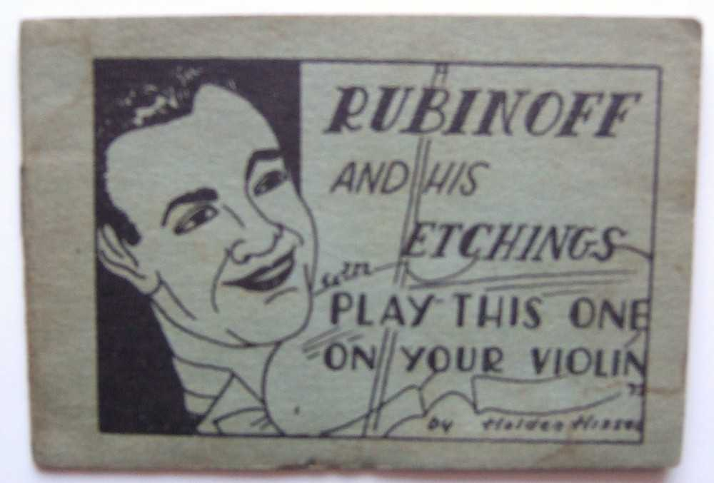"Rubinoff and His Etchings in ""Play This One on Your Violin"" by Holden Hiss (Tijuana Bible, 8-Pager), Anonymous; David Rubinoff; Dave Rubinoff"