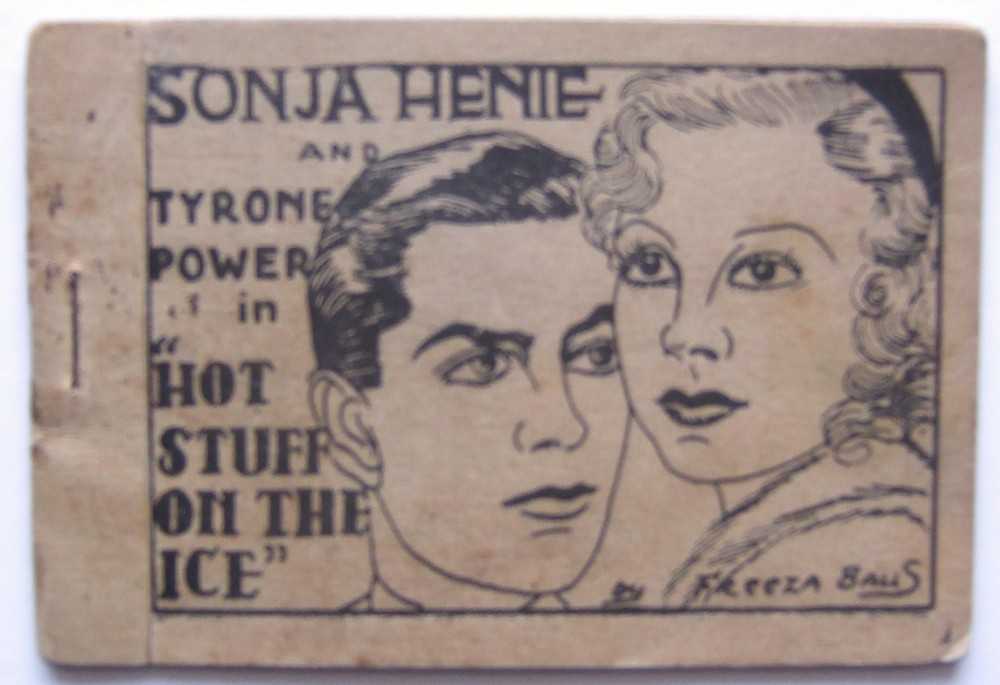 """Sonja Henie and Tyrone Power in """"Hot Stuff on the Ice"""" by Freeza Balls (Tijuana Bible, 8-Pager), Anonymous"""