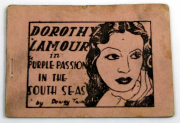 "Dorothy Lamour in ""Purple Passion in the South Seas"" by Dewey Twatt (Tijuana Bible, 8-Pager), Anonymous"