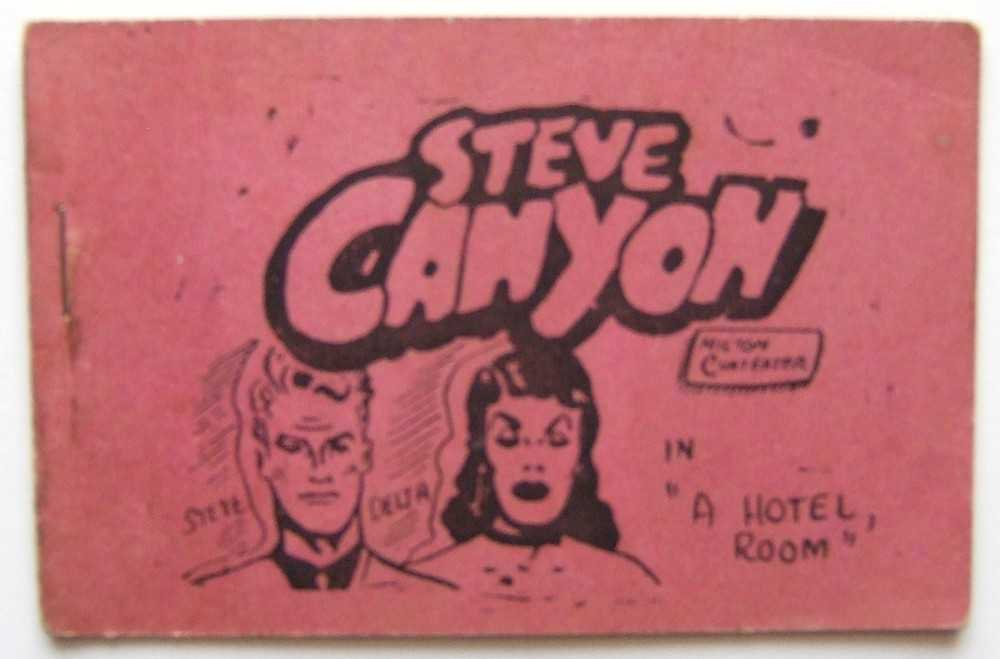 "Steve Canyon in ""A Hotel Room"" (Tijuana Bible, 8-Pager), ""Milton Cunteater""; Parody of characters created by Milton Caniff"