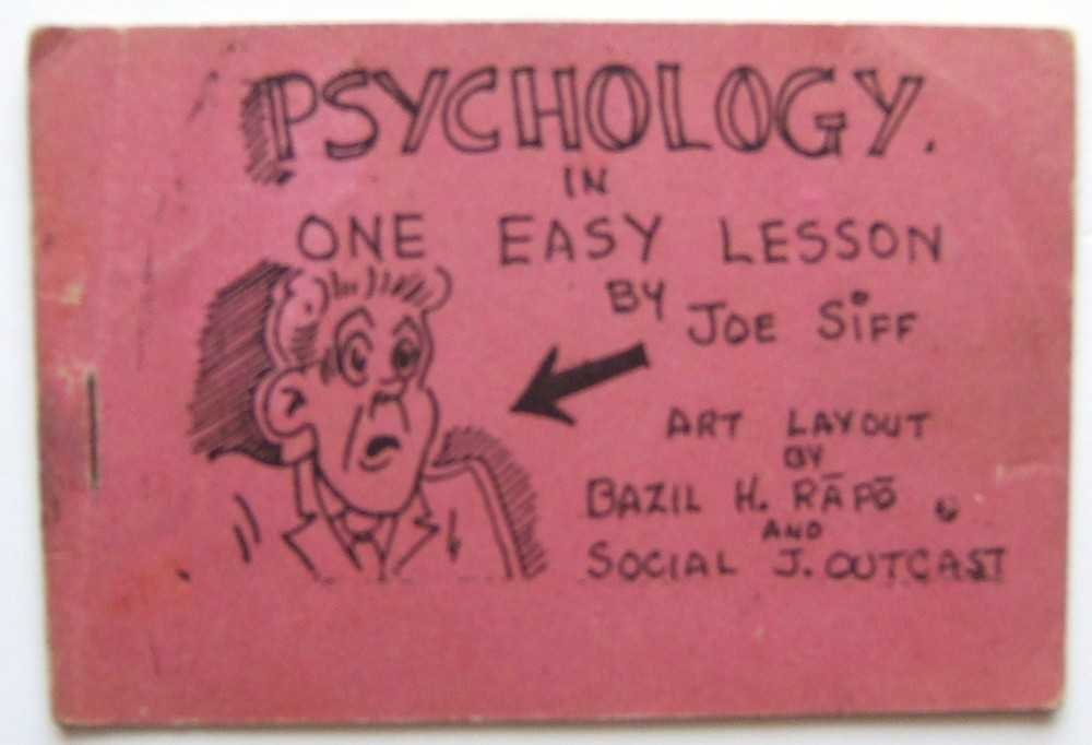 "Psychology in One Easy Lesson (Tijuana Bible, 8-Pager), ""Joe Siff""; Art layout by ""Bazil H. Rapo"" and ""Social J. Outcast"""