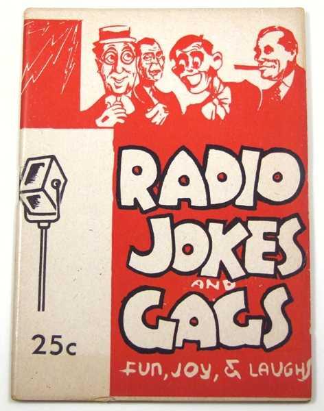 Radio Jokes and Gags (Joke Book), Shomer, Louis