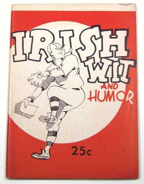 Irish Wit and Humor (Joke Book), Shomer, Louis