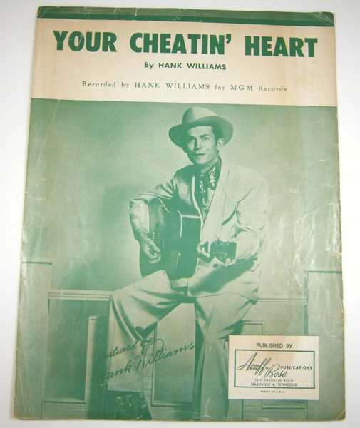 Your Cheatin' Heart [Sheet Music], Williams, Hank