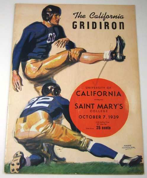 The California Gridiron: University of California vs. Saint Mary's, October 7, 1939 (Football Program), Associated Students University of California; Stub Allison