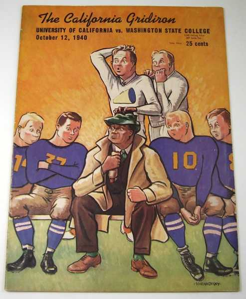 The California Gridiron: University of California vs. Washington State College, October 12, 1940 (Football Program), Associated Students University of California