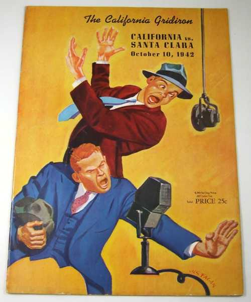 The California Gridiron: California vs. Santa Clara, October 10, 1942 (Football Program), Associated Students University of California; Stub Allison