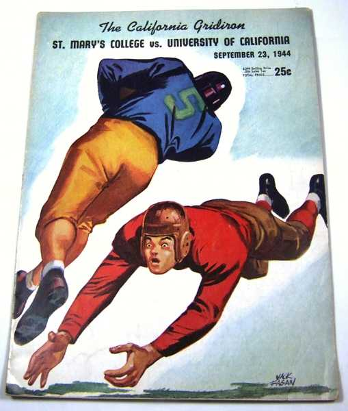 The California Gridiron: St. Mary's College vs. University of California (September 23rd, 1944, Vol. 12, No. 1), Associated Students University of California