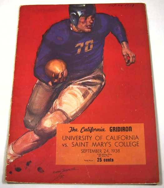 The California Gridiron: University of California vs. Saint Mary's College (September 24th, 1938), Associated Students University of California