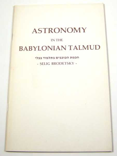 Astronomy in the Babylonian Talmud, Brodetsky, Selig
