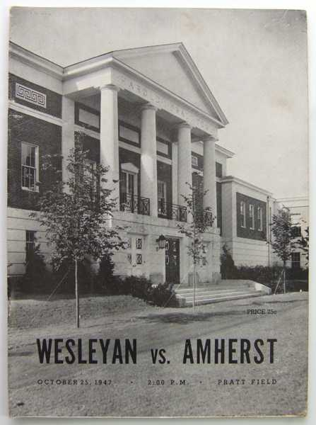 Wesleyan vs. Amherst: Official Football Program (October 25, 1947), Amherst College