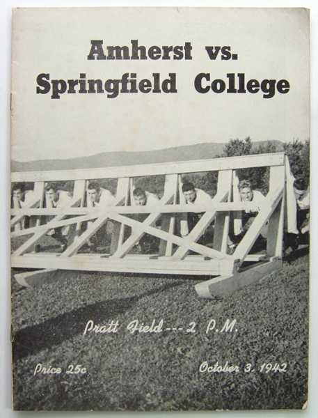 Amherst vs. Springfield College: Official Football Program (October 3, 1942), Amherst College
