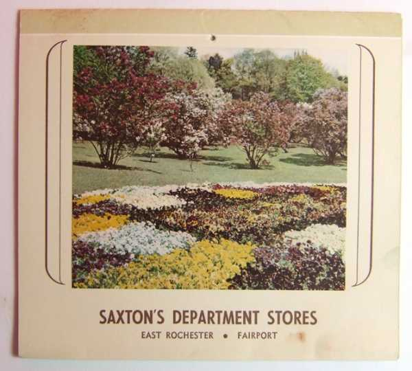 Saxton's Department Stores - East Rochester, Fairport (Promotional Calendar / Cook Book), Saxton's Department Stores
