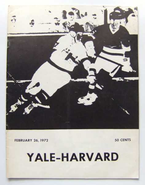 Yale vs. Harvard (Hockey Program, February 26th, 1972), Yale University