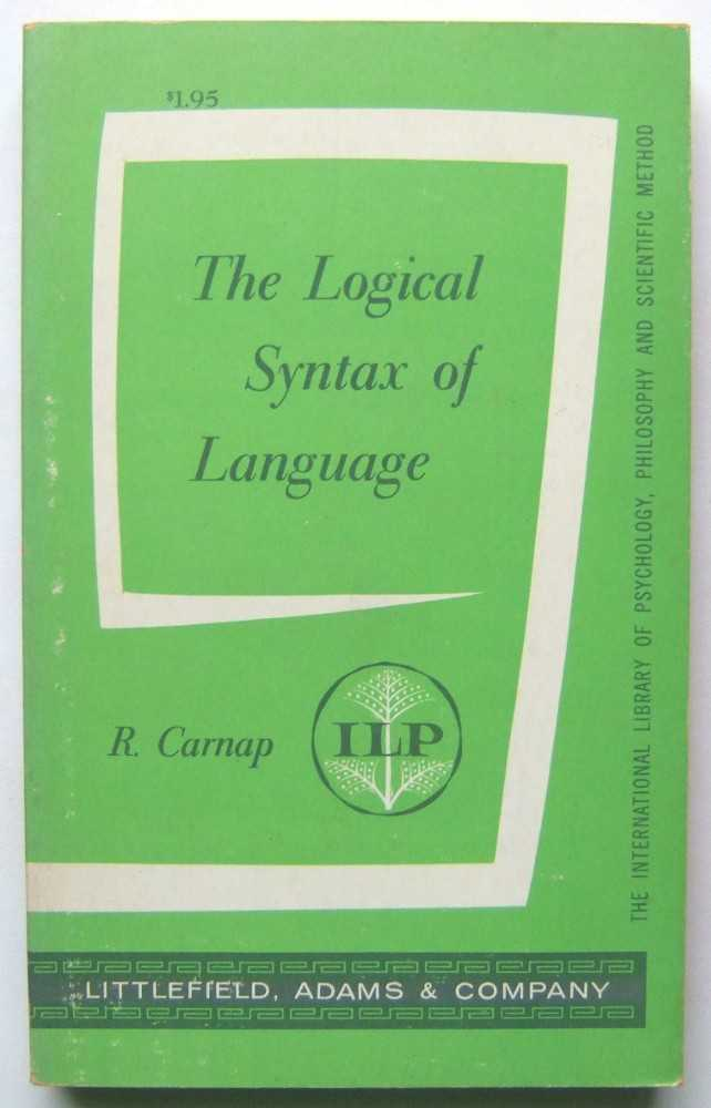 The Logical Syntax of Language, Carnap, Rudolf