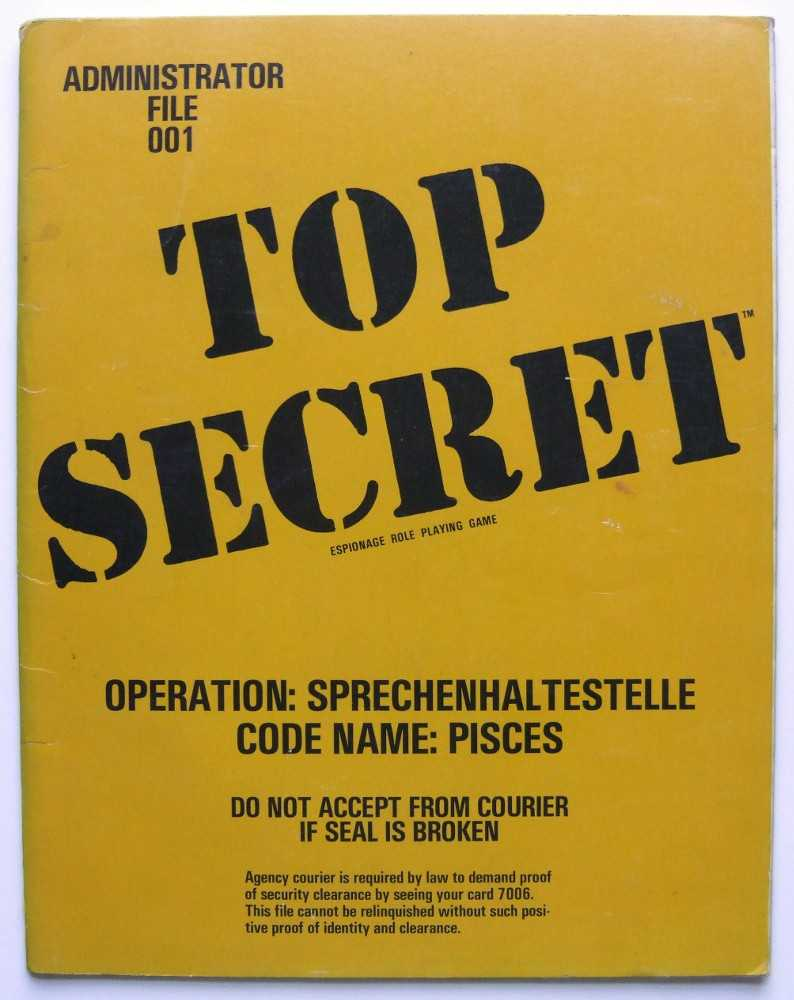 Operation Sprechenhaltestelle, Code Name: Pisces (Top Secret Administrator File 001)