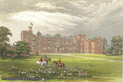 Burton Constable, near Kingston Upon Hull, Yorkshire. The House of the Constable family. Antique Colour Print., Morris, Francis Orpen