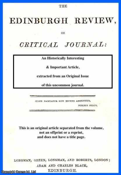 O'BRIEN, W. - Transportation as it now is; Need for Change; Effects of Compulsory Labour; Female Convicts; Tickets of Leave, etc. A rare original article from the Edinburgh Review, 1849.