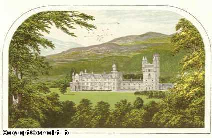 Balmoral Castle, near Ballater, Aberdeenshire. The Royal Private Residence. Antique Colour Print., Morris, Francis Orpen