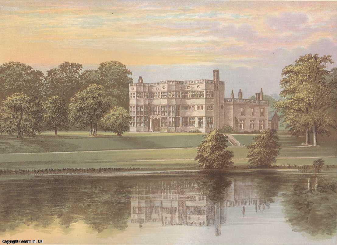Astley Hall, near Chorley, Lancashire. The House of the Parker family. Antique Colour Print., Morris, Francis Orpen