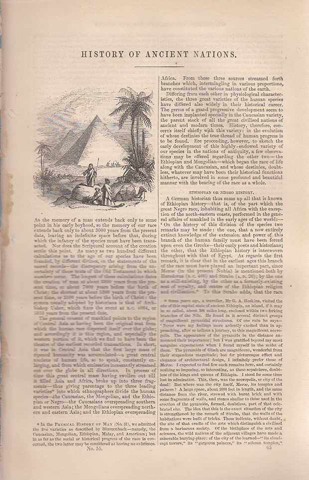 History of Ancient Nations. An article from Chambers's Information for the People., Chambers, William and Robert.