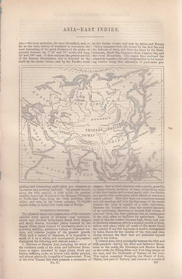 Asia and the East Indies. An article from Chambers's Information for the People., Chambers, William and Robert.