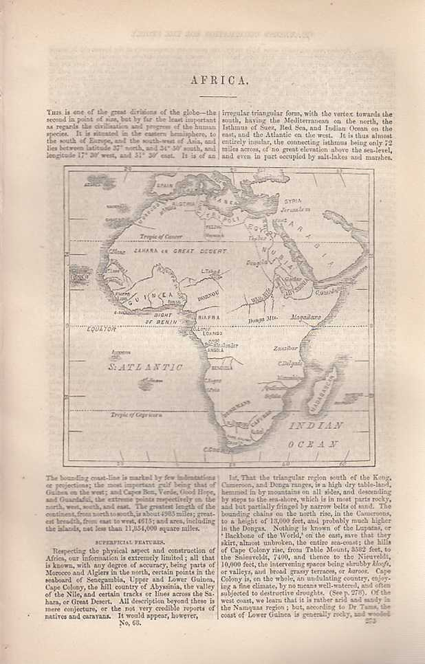Africa. An article from Chambers's Information for the People., Chambers, William and Robert.