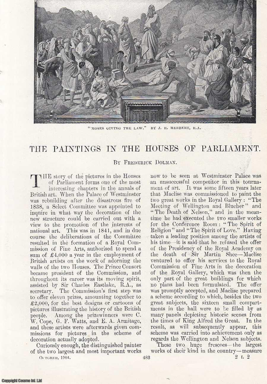DOLMAN, FREDERICK. - The Paintings in the Houses of Parliament. An original article from the Windsor Magazine, 1904.