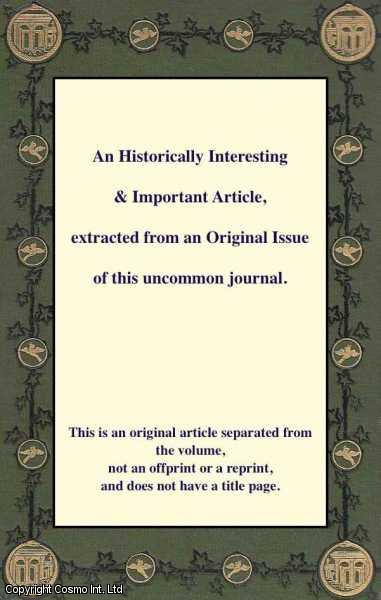 The Influence of the Phallic Idea in the Religions of Antiquity. A 2 part article.[Read before the Anthropological Society of London, 5th April, 1870.], Wake, C. Staniland.